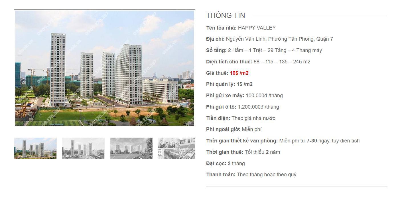 Danh sách công ty thuê văn phòng tại Happy Valley Nguyễn Văn Linh, Quận 7 - vlook.vn