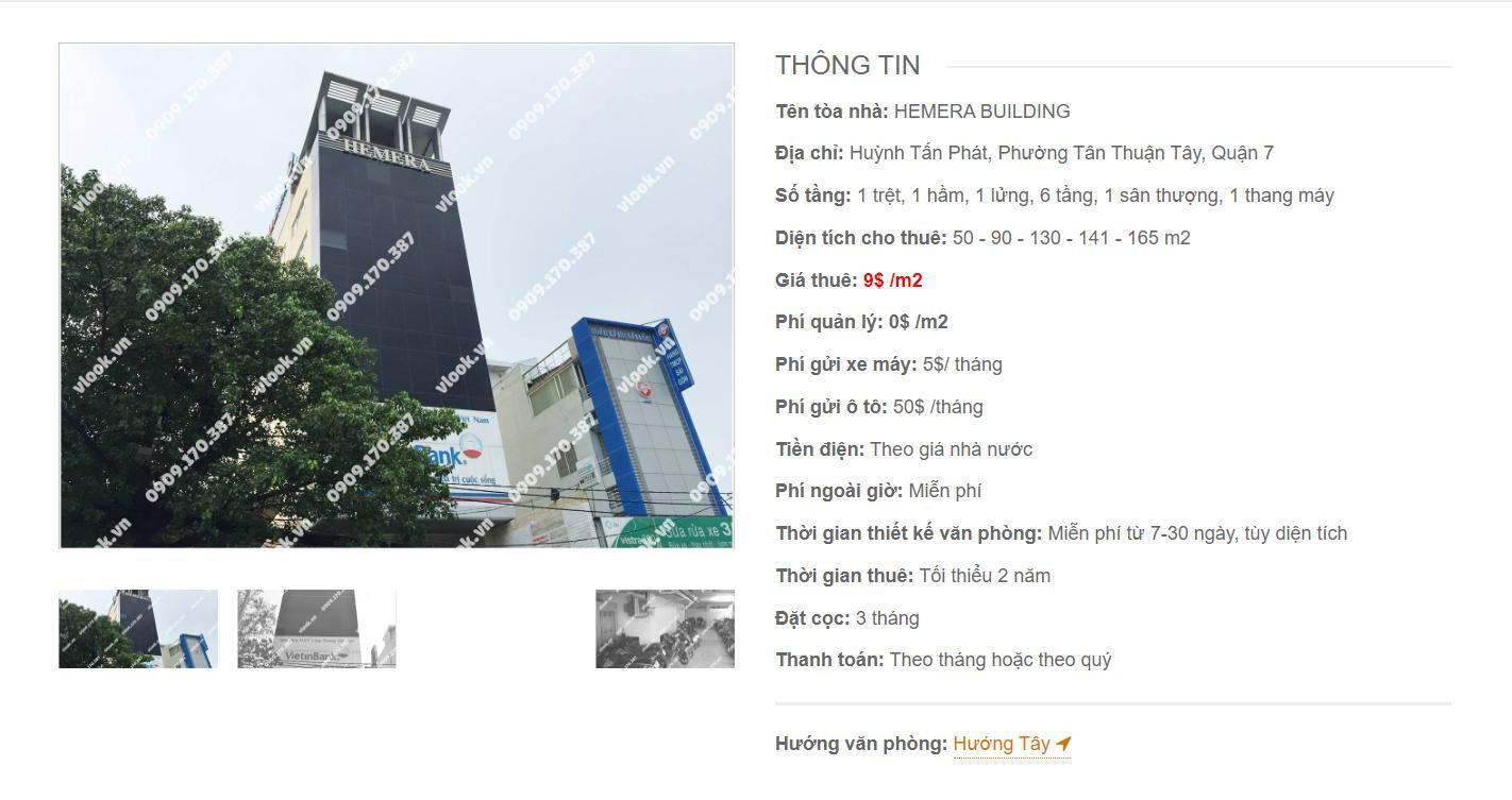 Danh sách công ty thuê văn phòng tại Hemera Building Huỳnh Tấn Phát, Quận 7 - vlook.vn