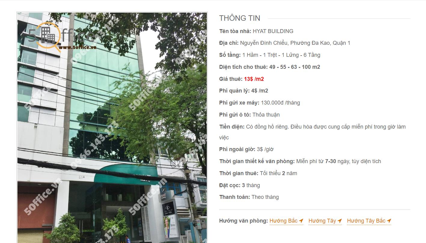 Danh sách công ty tại văn phòng Hyat Building Nguyễn Đình Chiểu, Quận 3 - vlook.vn