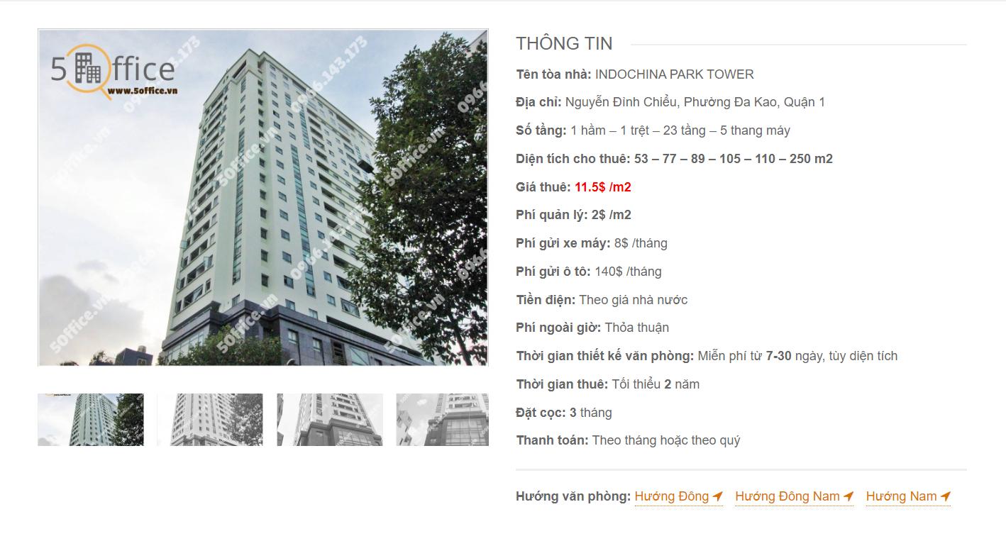 Danh sách công ty tại văn phòng Indochina Park Tower Nguyễn Đình Chiểu, Quận 3 - vlook.vn