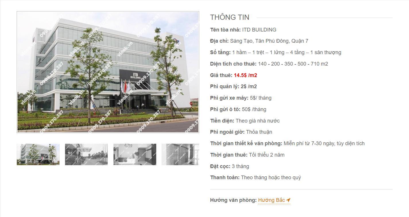 Danh sách công ty thuê văn phòng tại ITD Building Sáng Tạo, Quận 7 - vlook.vn