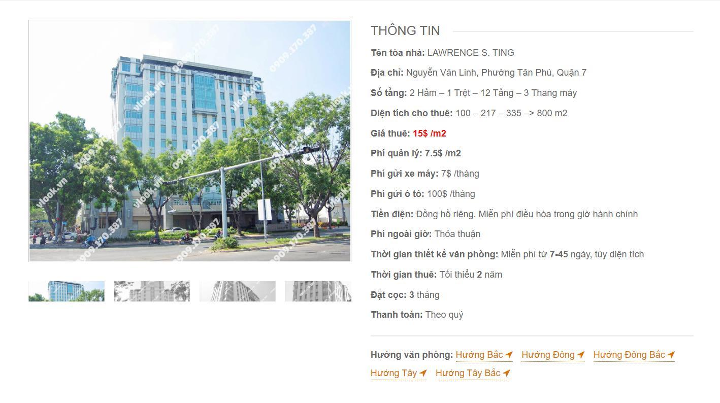 Danh sách công ty thuê văn phòng tại Lawrence S.ting Nguyễn Văn Linh, Quận 7 - vlook.vn