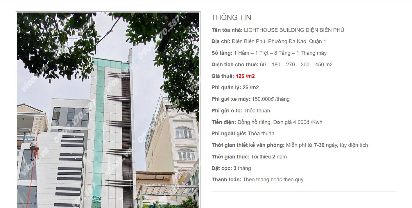 Danh sách công ty tại cao ốc Lighthouse Building Điện Biên Phủ, Quận 1- vlook.vn