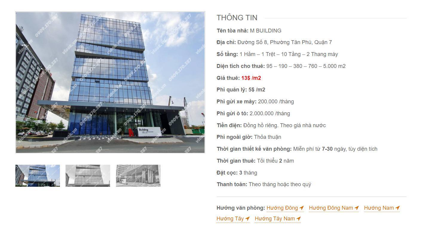 Danh sách công ty thuê văn phòng tại M-Building Đường số 8, Quận 7 - vlook.vn