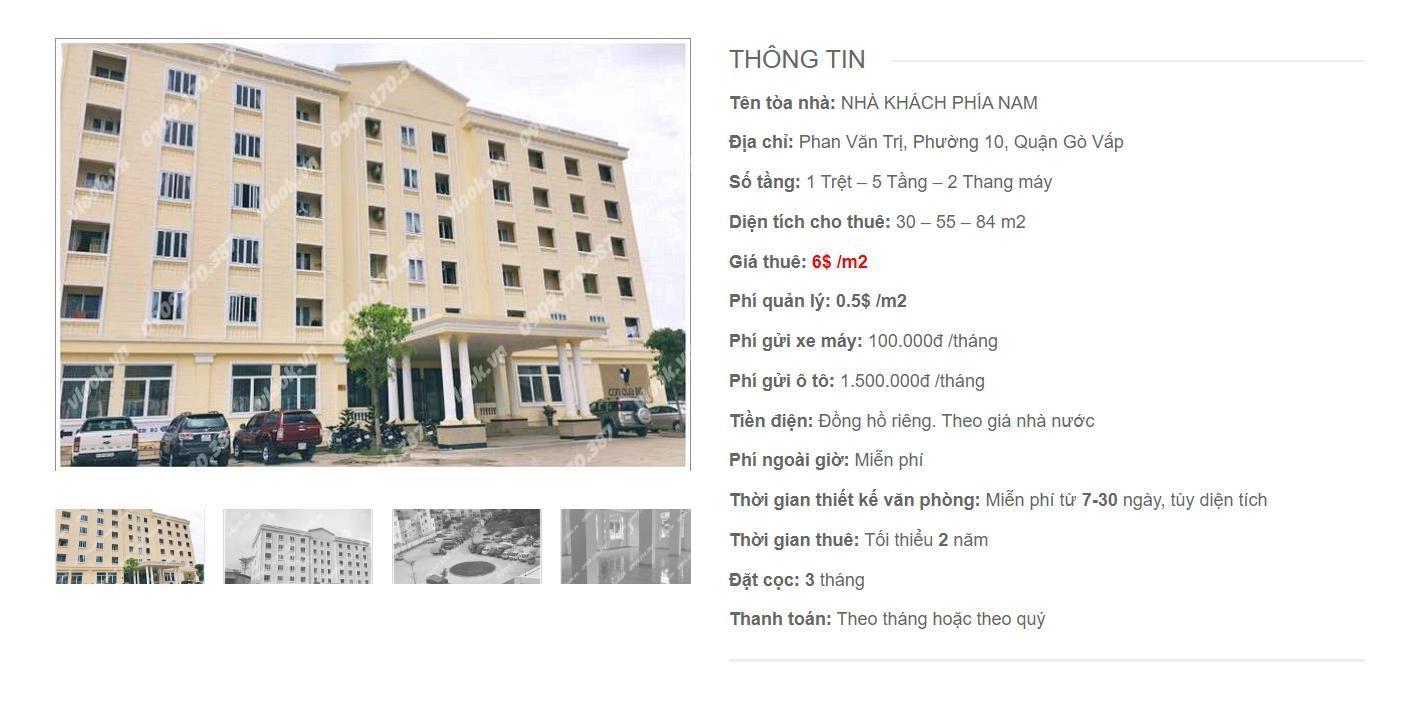 Danh sách công ty thuê văn phòng tại Nhà Khách Phía Nam Phan Văn Trị, Quận Gò Vấp - vlook.vn
