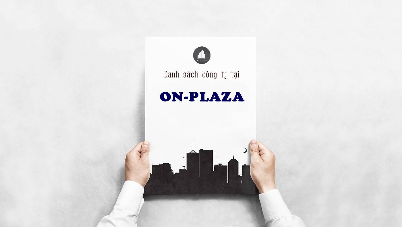 Danh sách công ty tại tòa nhà ON-Plaza Ba Tháng Hai, Quận 10 - vlook.vn
