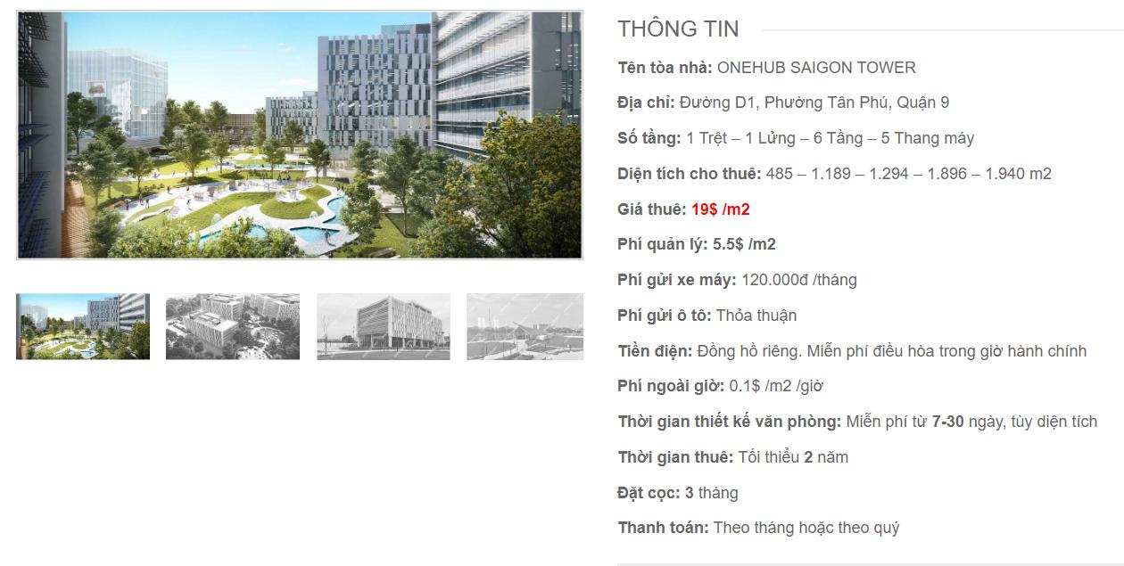 Danh sách công ty thuê văn phòng tại OneHub Saigon Tower, Đường D1, Quận 9 - vlook.vn