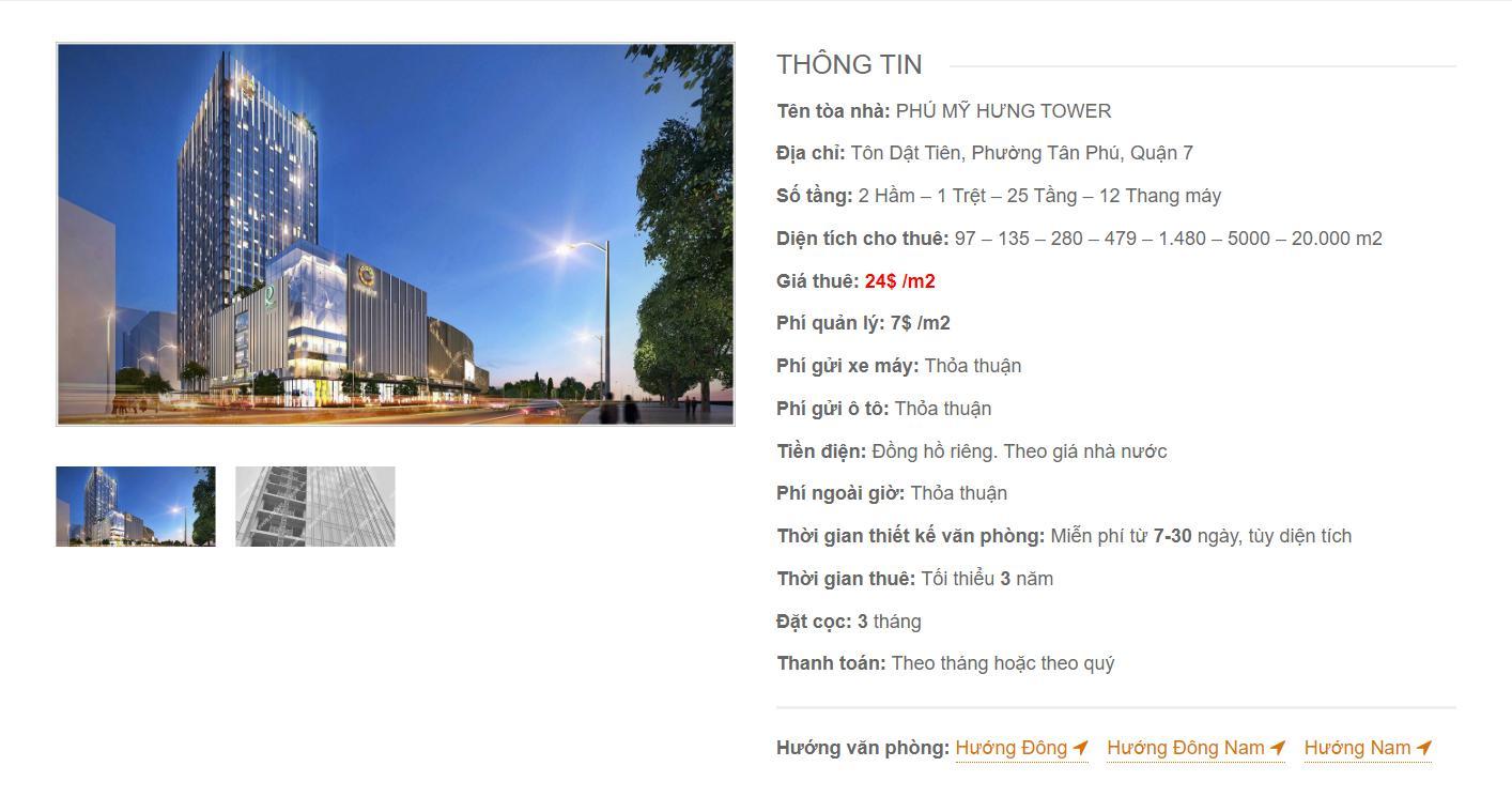 Danh sách công ty thuê văn phòng tại Phú Mỹ Hưng Tower Tôn Dật Tiên, Quận 7 - vlook.vn
