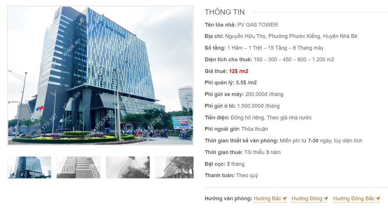 Danh sách công ty thuê văn phòng tại PV Gas Tower, Nguyễn Hữu Thọ, Huyện Nhà Bè - vlook.vn
