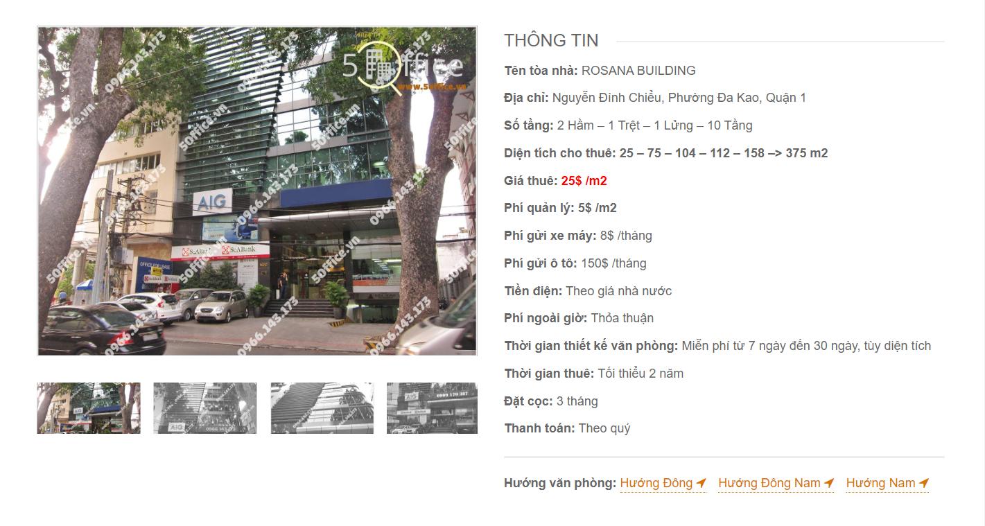 Danh sách công ty tại văn phòng Rosana Building Nguyễn Đình Chiểu, Quận 3 - vlook.vn