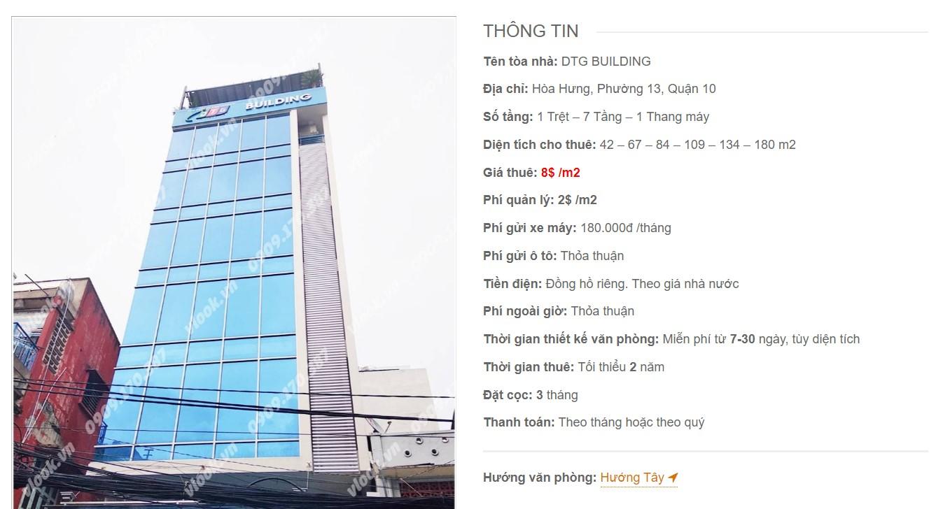 Danh sách công ty tại tòa nhà DTG Building, Quận 10 - vlook.vn