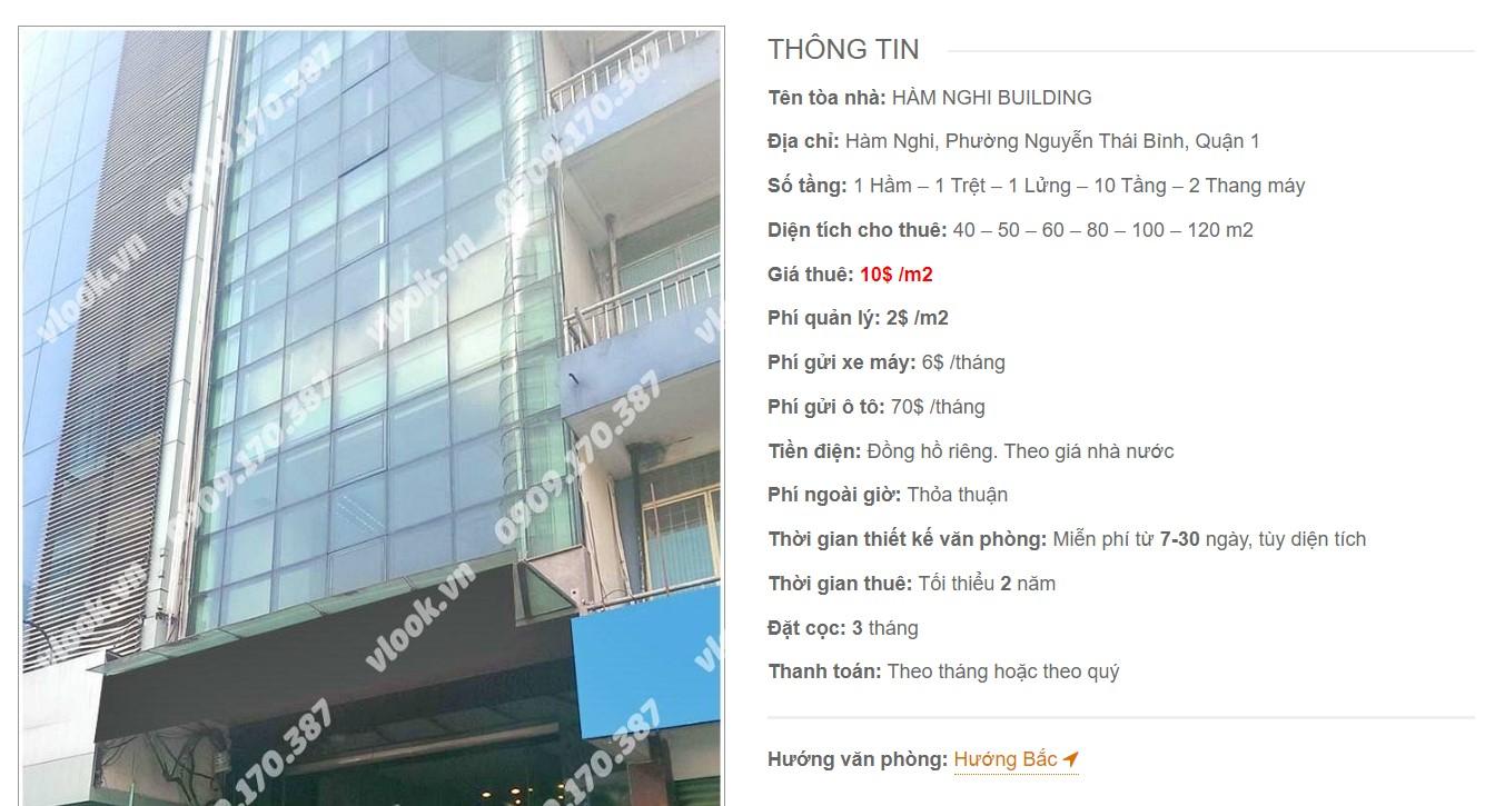 Danh sách công ty tại tòa nhà Hàm Nghi Building, Quận 1 - vlook.vn