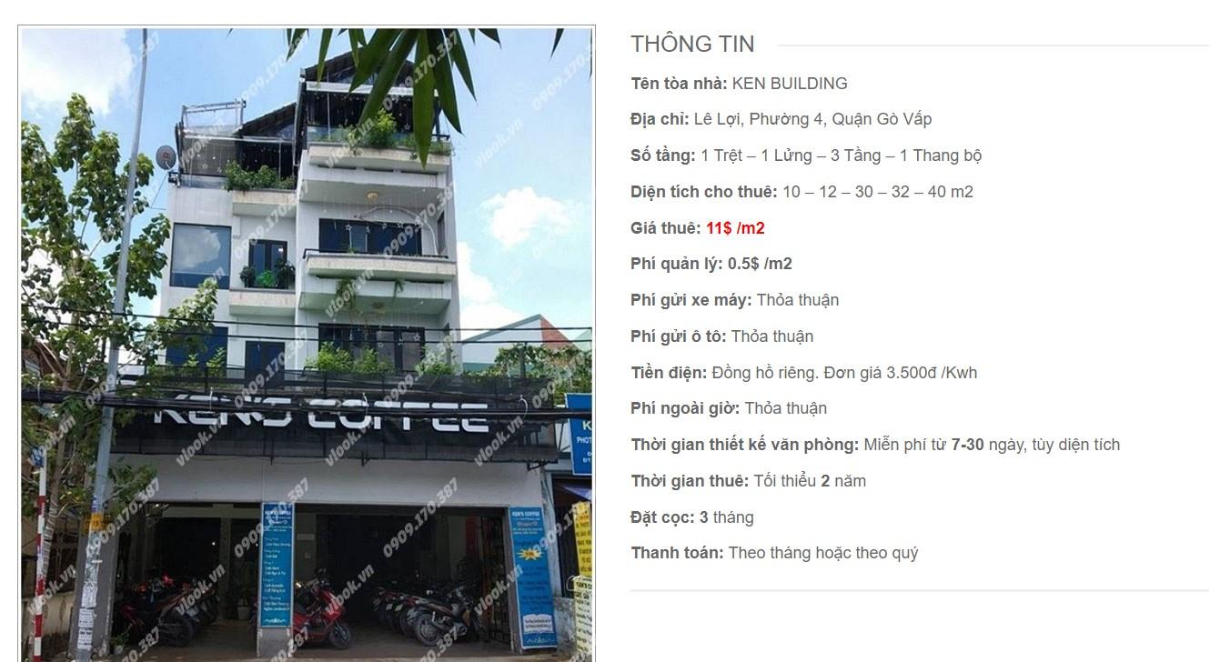 Danh sách công ty tại tòa nhà Ken Building, Quận Gò Vấp - vlook.vn