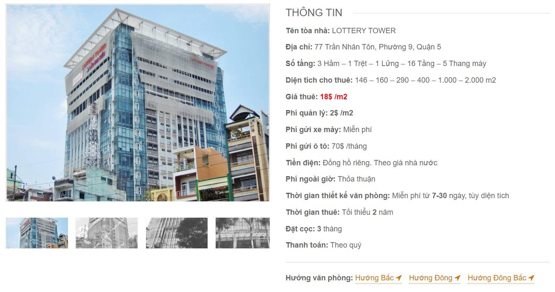 Danh sách công ty tại tòa cao ốc Lottery Tower, Quận 5 - vlook.vn