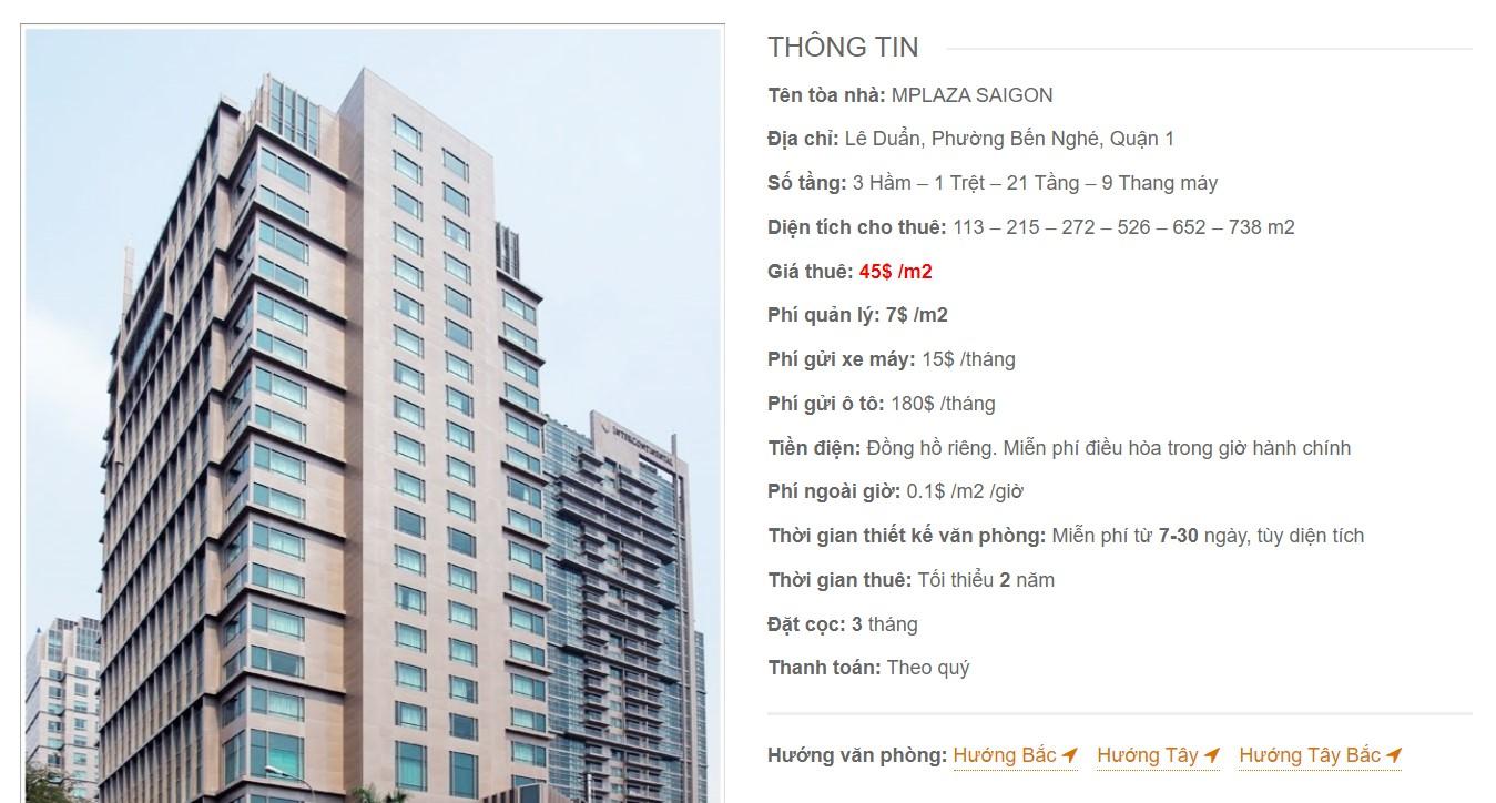 Danh sách công ty tại tòa cao ốc mPlaza Saigon, Quận 1 - vlook.vn