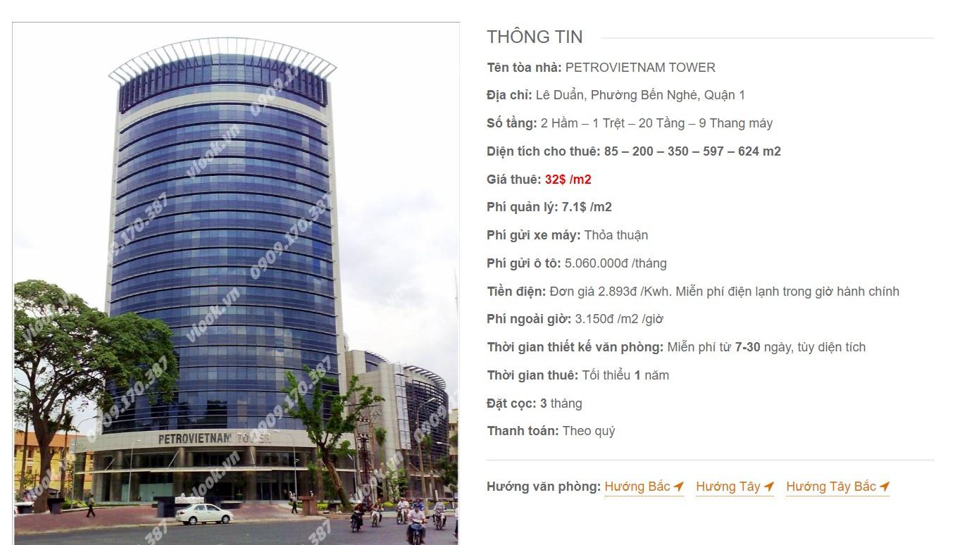 Danh sách công ty tại cao ốc Petrovietnam Tower, Quận 1 - vlook.vn