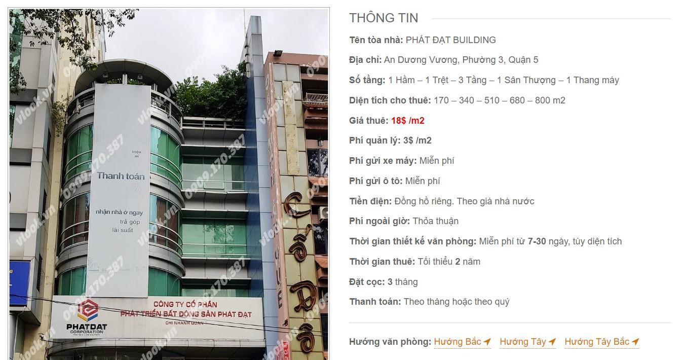 Danh sách công ty tại tòa nhà Phát Đạt Building, Quận 5 - vlook.vn