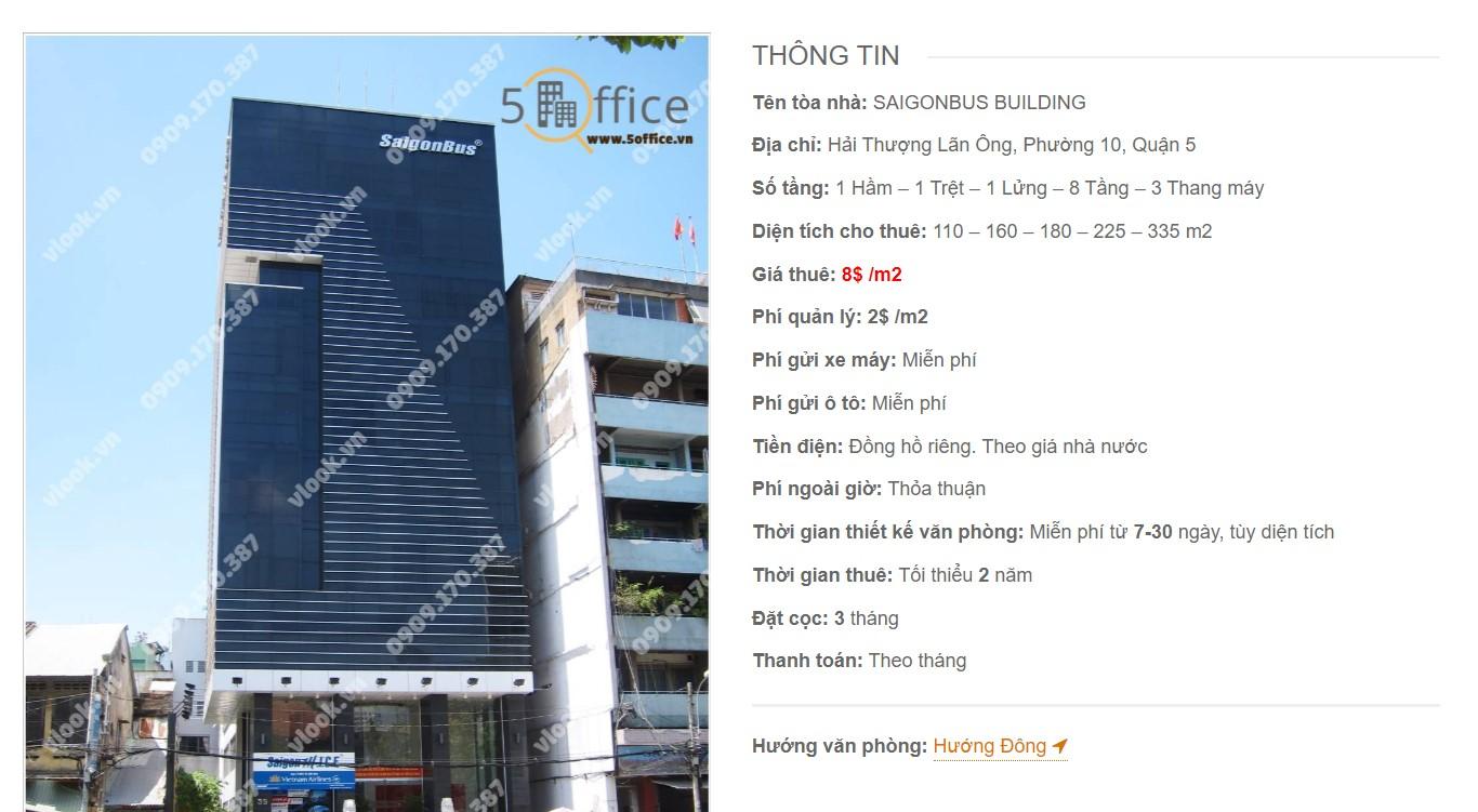 Danh sách công ty tại tòa nhà Saigonbus Building, Quận 5 - vlook.vn