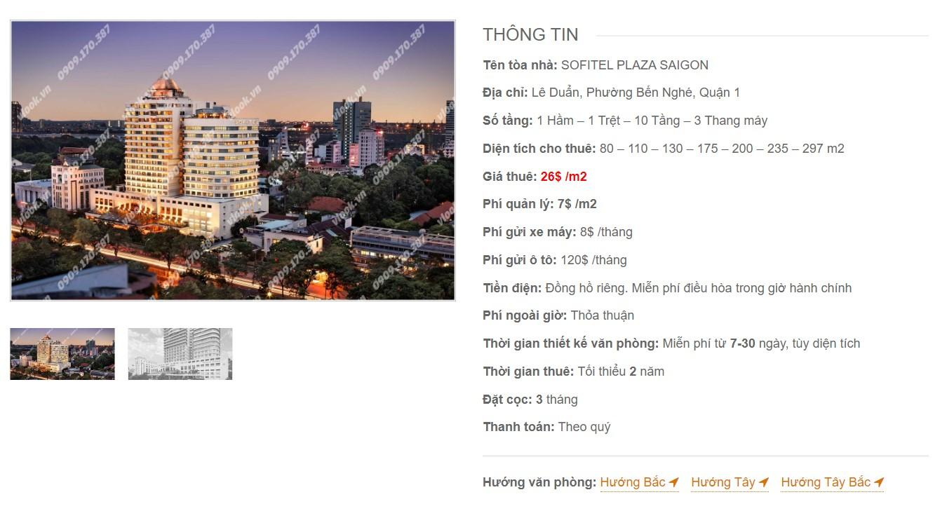 Danh sách công ty tại cao ốc Sotifel Plaza Saigon, Quận 1 - vlook.vn