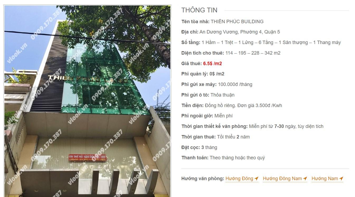 Danh sách công ty tại Thiên Phúc Building, Quận 5 - vlook.vn