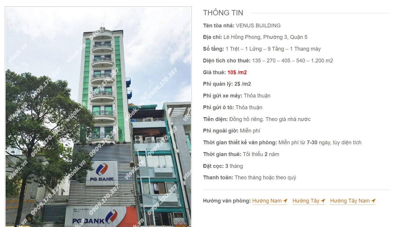 Danh sách công ty tại tòa nhà Venus Building, Quận 5 - vlook.vn