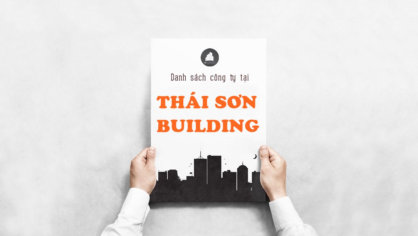 Danh sách công ty thuê văn phòng tại Thái Sơn Building, Nguyễn Duy Trinh, Quận 9 - vlook.vn