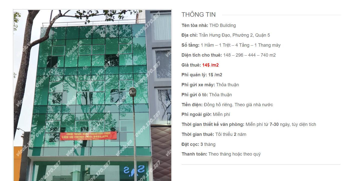 Danh sách công ty thuê văn phòng tại THD Building Trần Hưng Đạo, Quận 5 - vlook.vn