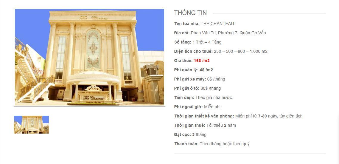 Danh sách công ty thuê văn phòng tại The Chateau Phan Văn Trị, Quận Gò Vấp - vlook.vn