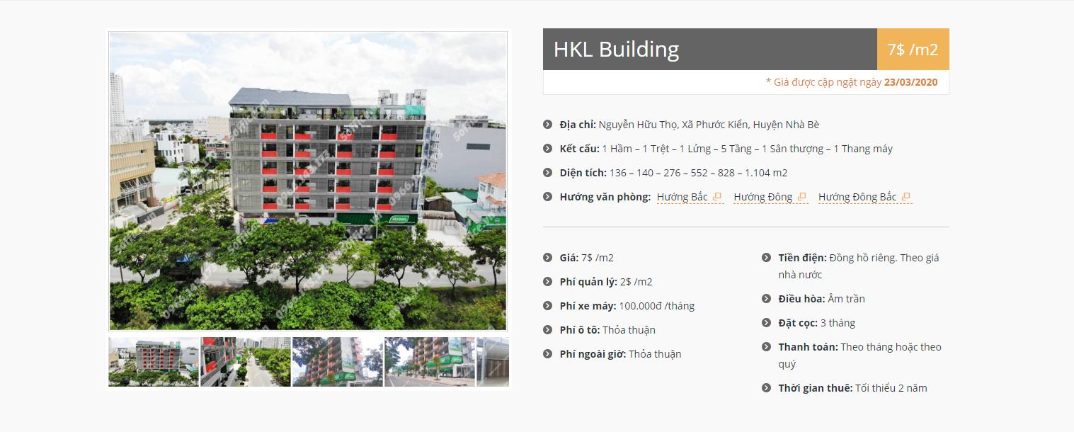 Danh sách công ty tại tòa nhà HKL Building Nguyễn Hữu Thọ, Huyện Nhà Bè - vlook.vn