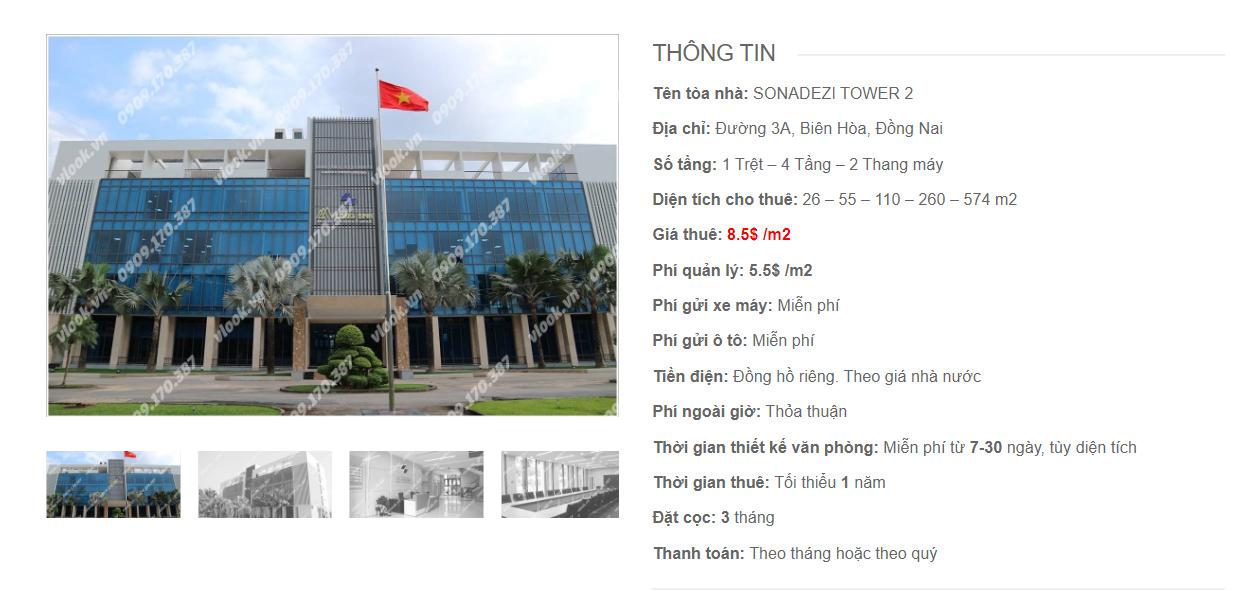 Danh sách công ty tại tòa nhà Sonadezi Tower 2, Đường 3A, Tỉnh Đồng Nai - vlook.vn