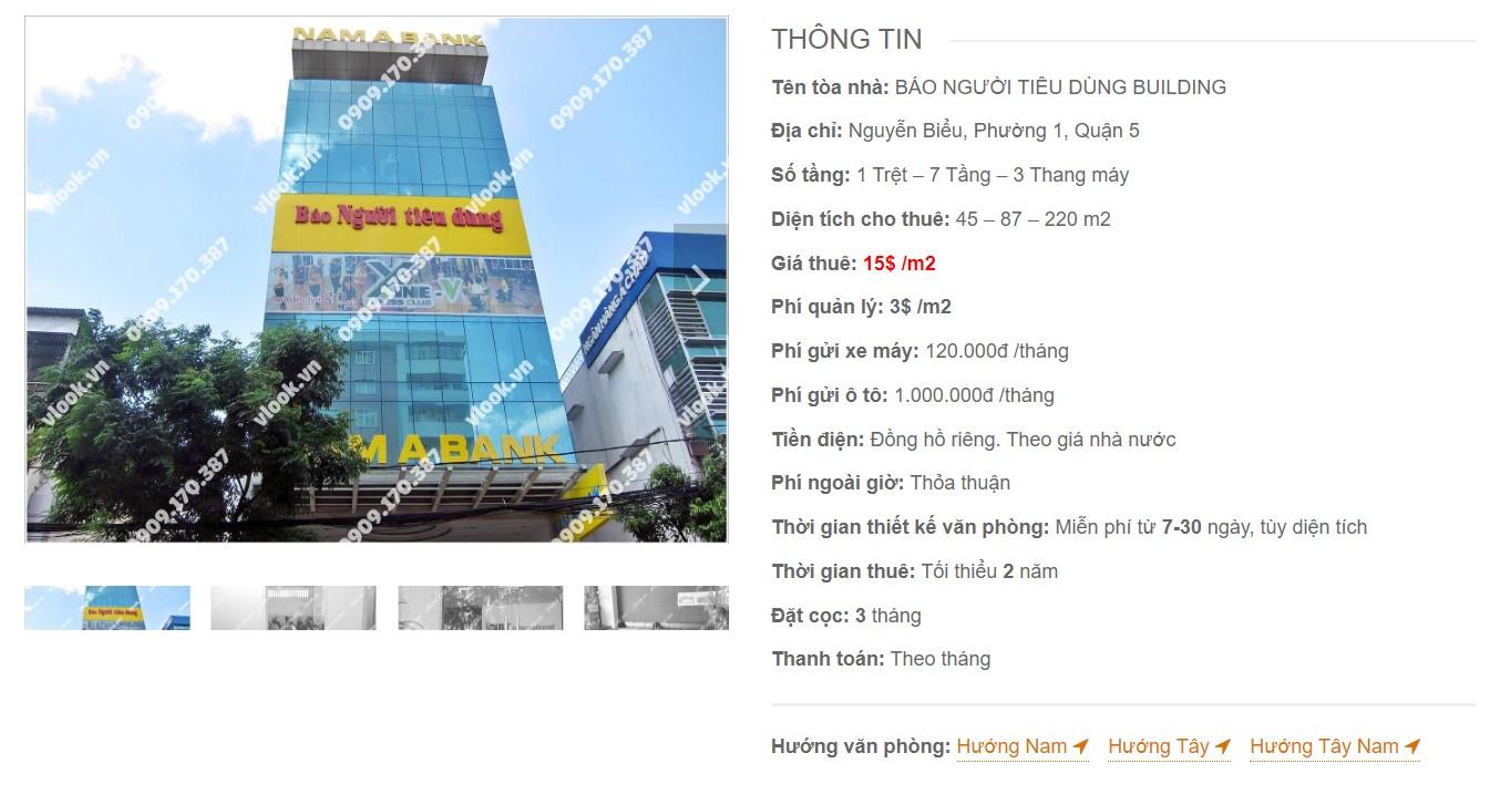 Danh sách công ty thuê văn phòng tại Báo Người Tiêu Dùng Building, Quận 5 - vlook.vn