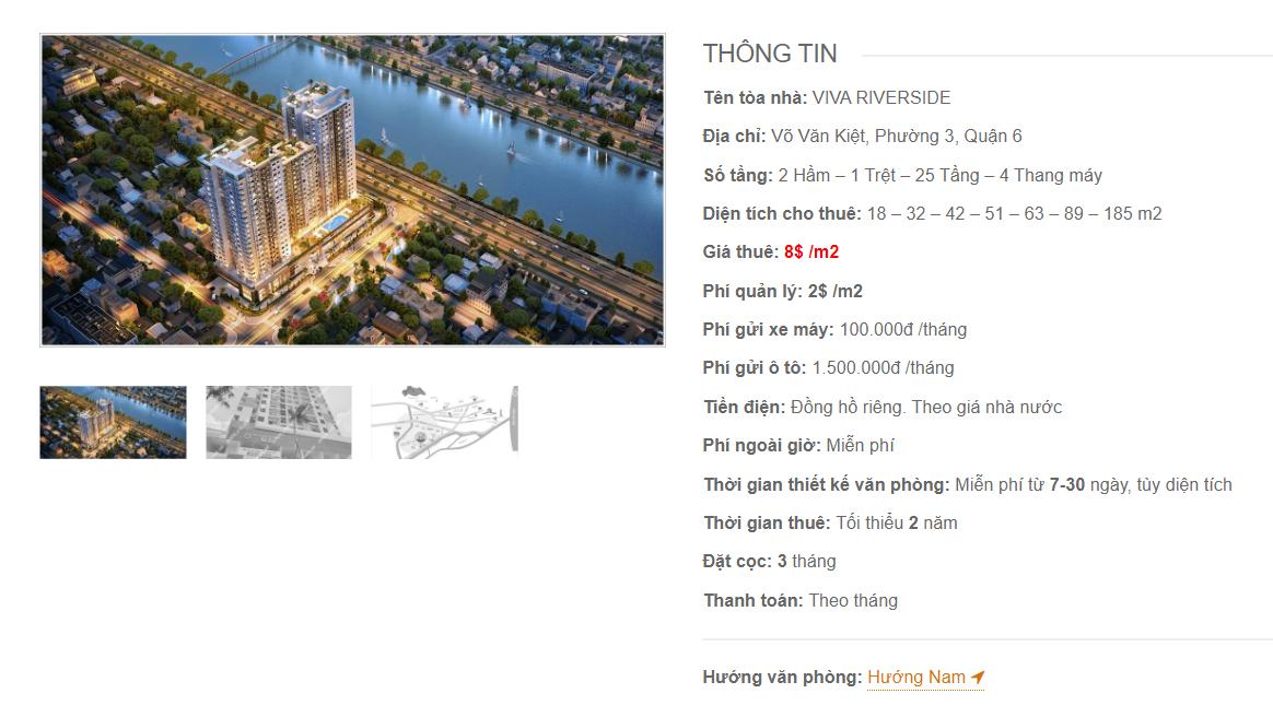 Danh sách công ty tại tòa nhà Viva Riverside, Võ Văn Kiệt, Quận 6 - vlook.vn