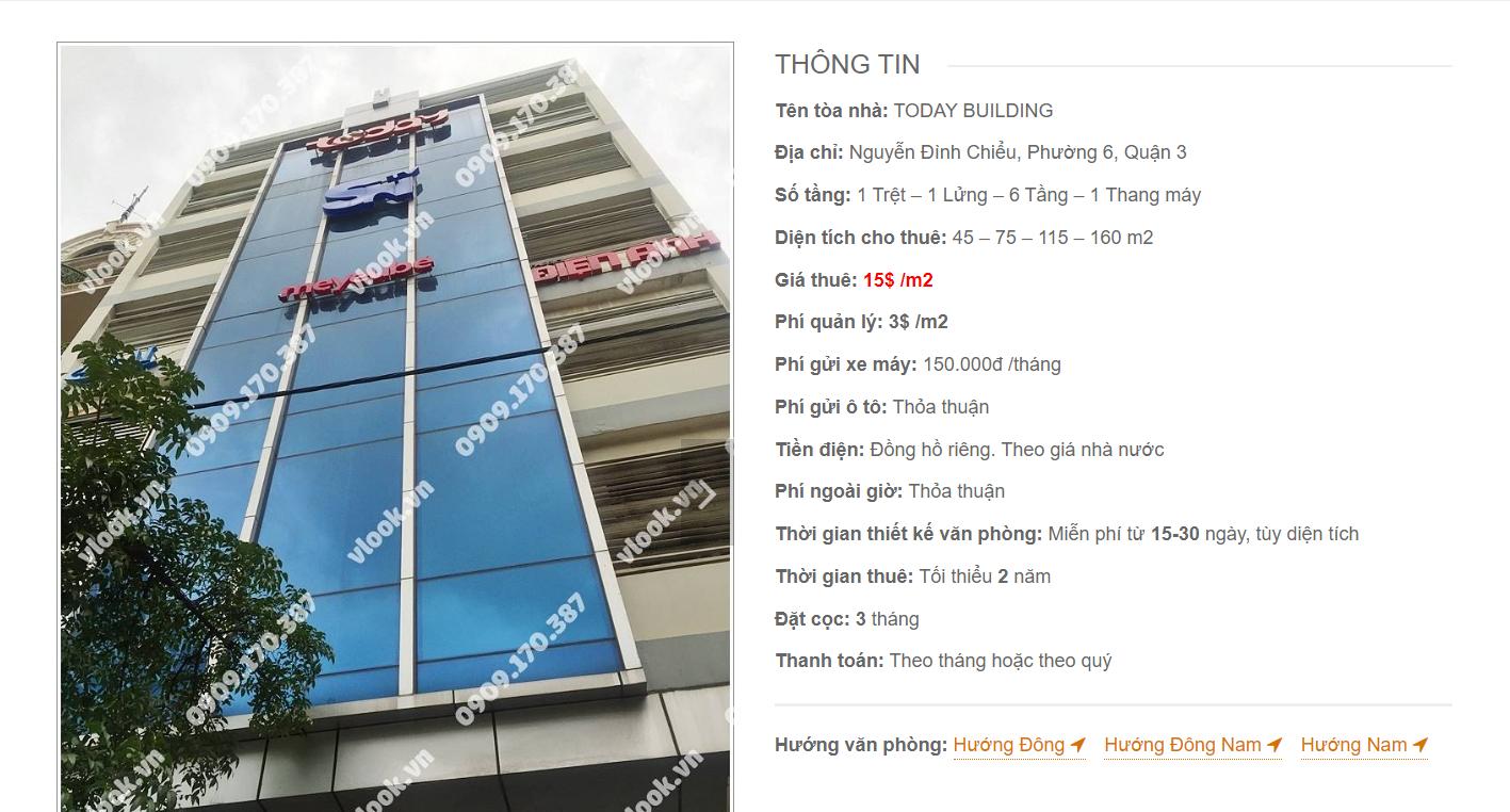 Danh sách công ty tại văn phòng Today Building Nguyễn Đình Chiểu, Quận 1 - vlook.vn