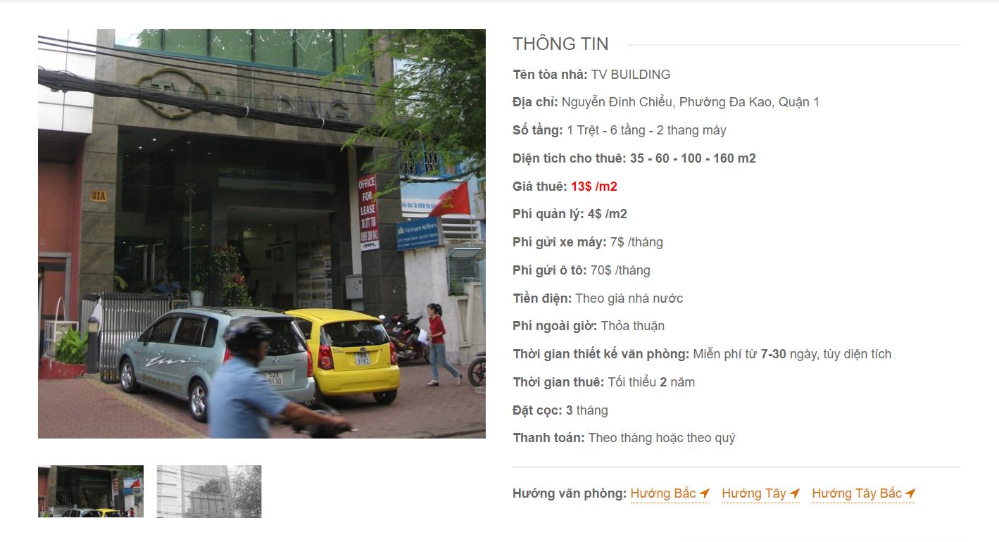 Danh sách công ty tại văn phòng TV Building Nguyễn Đình Chiểu, Quận 1 - vlook.vn