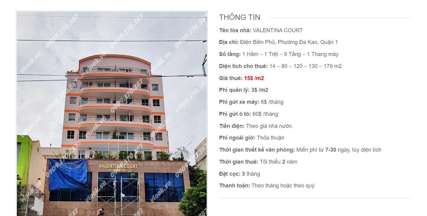 Danh sách công ty tại cao ốc Valentina Court Điện Biên Phủ, Quận 1 - vlook.vn