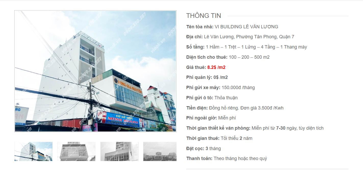 Danh sách công ty thuê văn phòng tại VI Building Lê Văn Lương, Quận 7 - vlook.vn