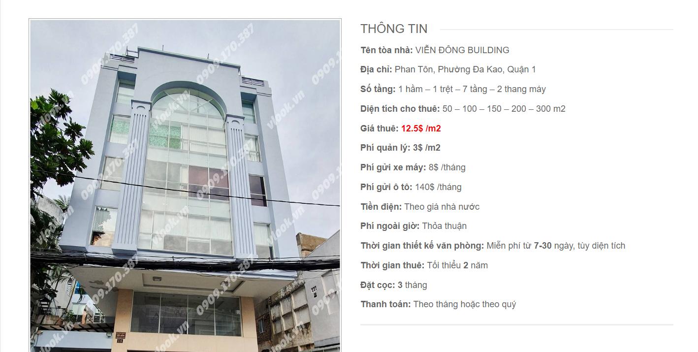 Danh sách công ty tại cao ốc Viễn Đông Building Phan Tôn, Quận 1 - vlook.vn
