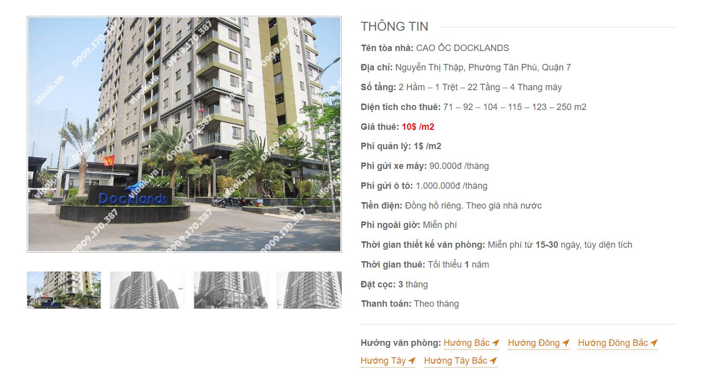 Danh sách công ty thuê văn phòng tại Cao ốc Docklands Nguyễn Thị Thập Quận 7 - vlook.vn