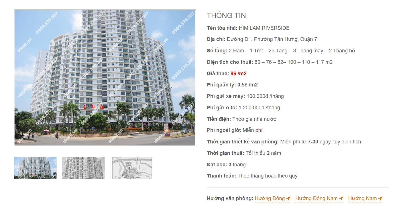 Danh sách công ty thuê văn phòng tại Him Lam Reverside Đường D1 Quận 7 - vlook.vn