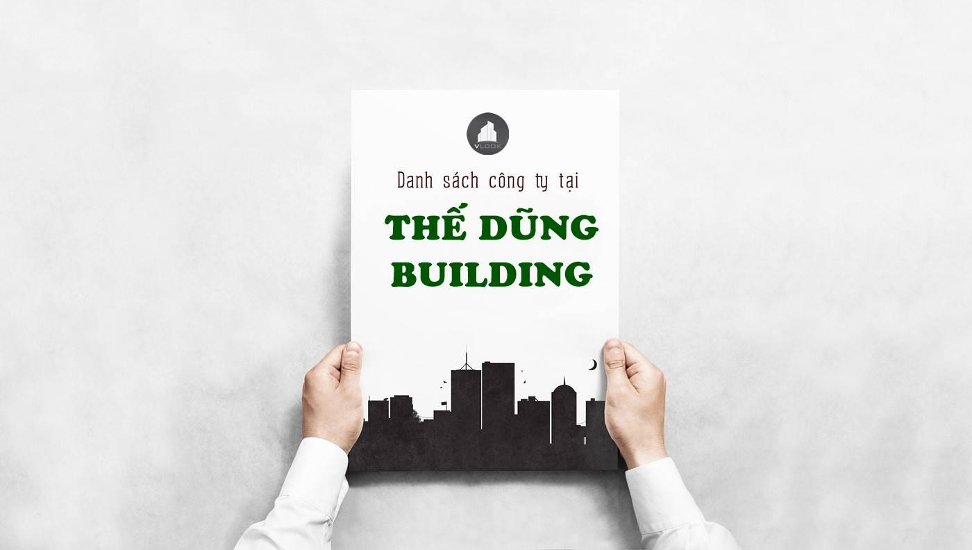Danh sách công ty thuê văn phòng tại Thế Dũng Building Nguyễn Thị Thập, Quận 7 - vlook.vn