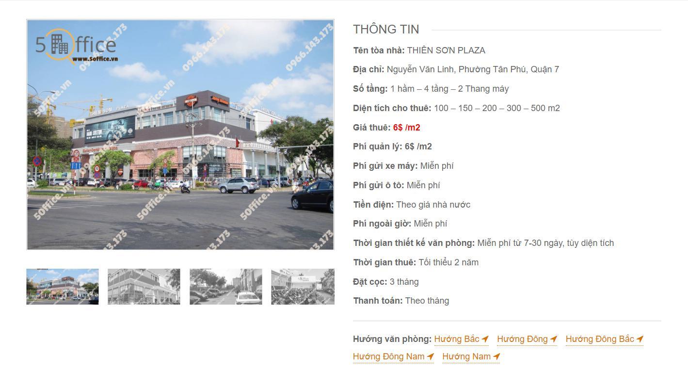 Danh sách công ty thuê văn phòng tại Thiên Sơn Plaza Nguyễn Văn Linh, Quận 7 - vlook.vn