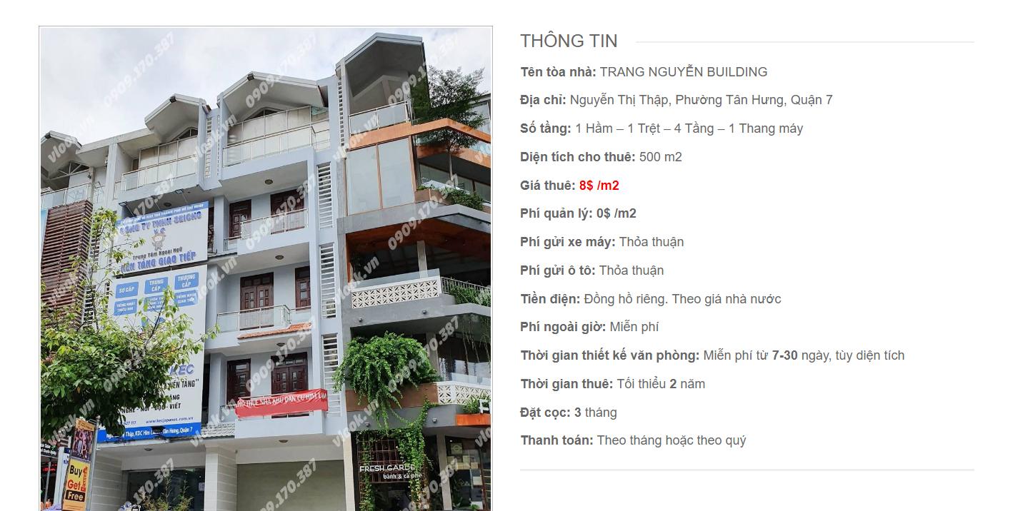 Danh sách công ty thuê văn phòng tại Trang Nguyễn Building Nguyễn Thị Thập Quận 7 - vlook.vn