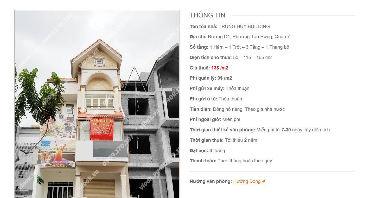 Danh sách công ty thuê văn phòng tại Trung Huy Building Đường D1, Quận 7 - vlook.vn
