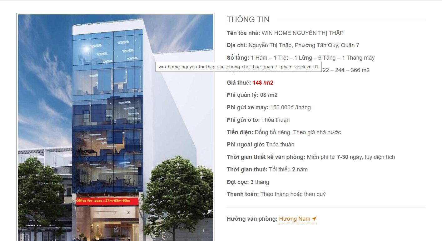 Danh sách công ty thuê văn phòng tại Win Home Nguyễn Thị Thập Quận 7 - vlook.vn