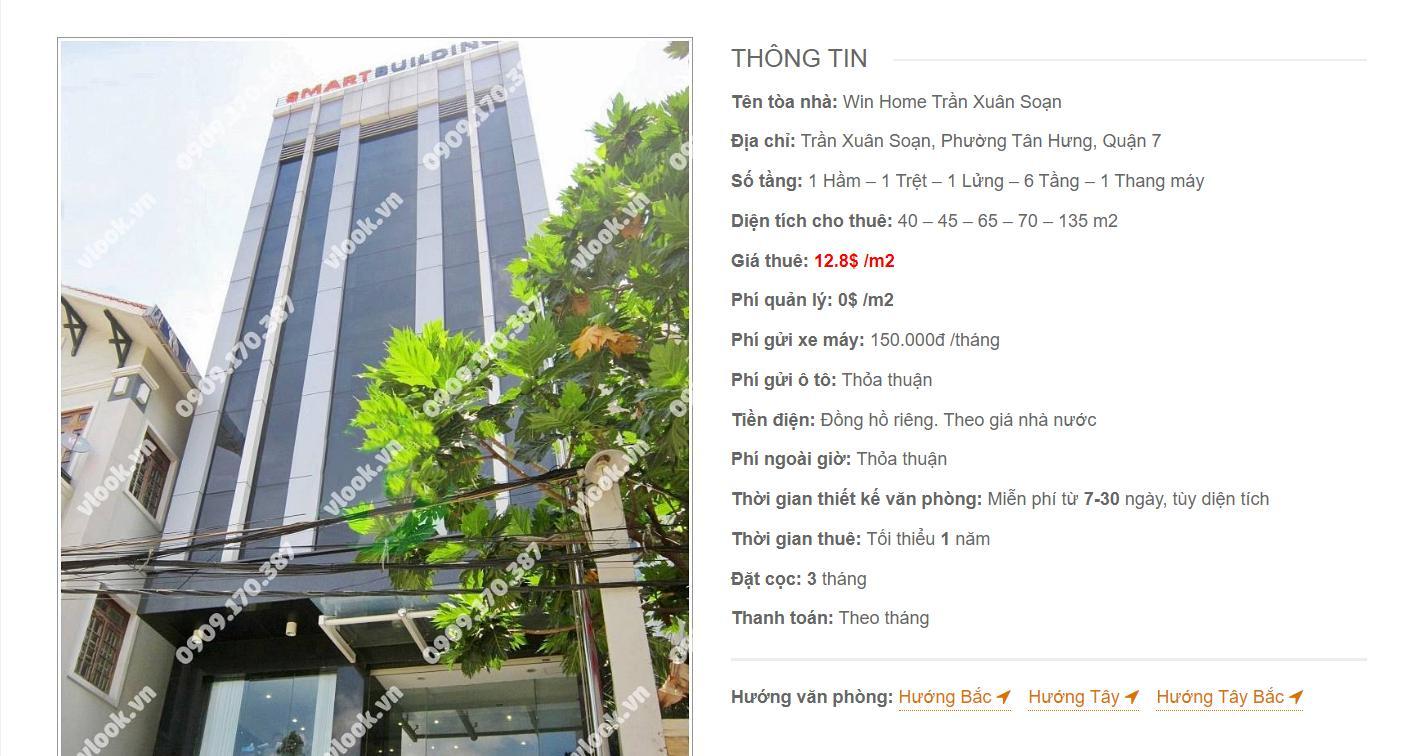 Danh sách công ty thuê văn phòng tại Win Home Trần Xuân Soạn, Quận 7 - vlook.vn