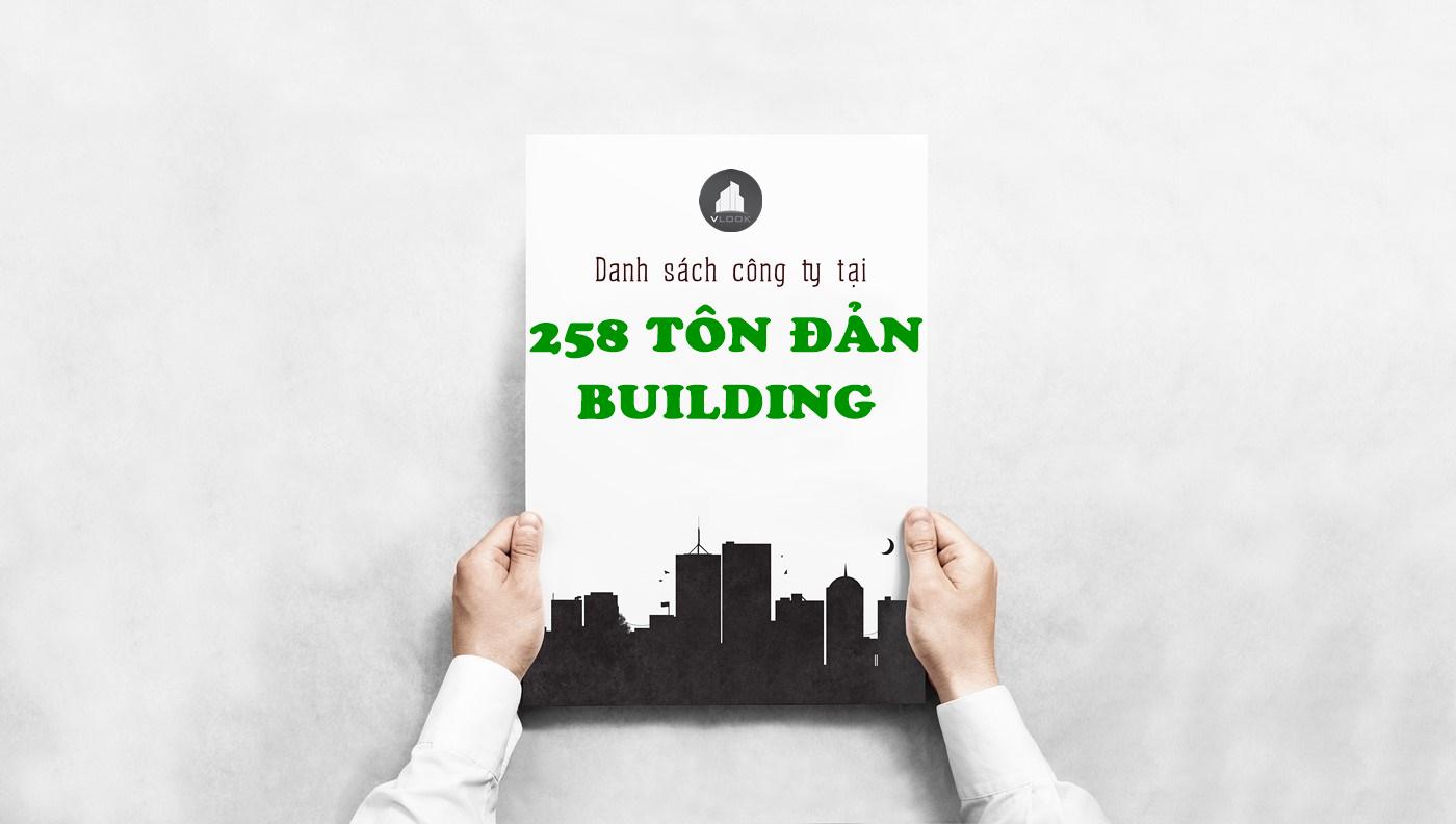 Danh sách công ty tại tòa nhà 258 Tôn Đản Building, Quận 4