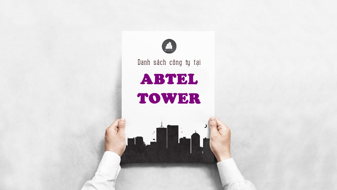 Danh sách công ty tại tòa nhà Abtel Tower, Phan Đăng Lưu¸, Quận Bình Thạnh