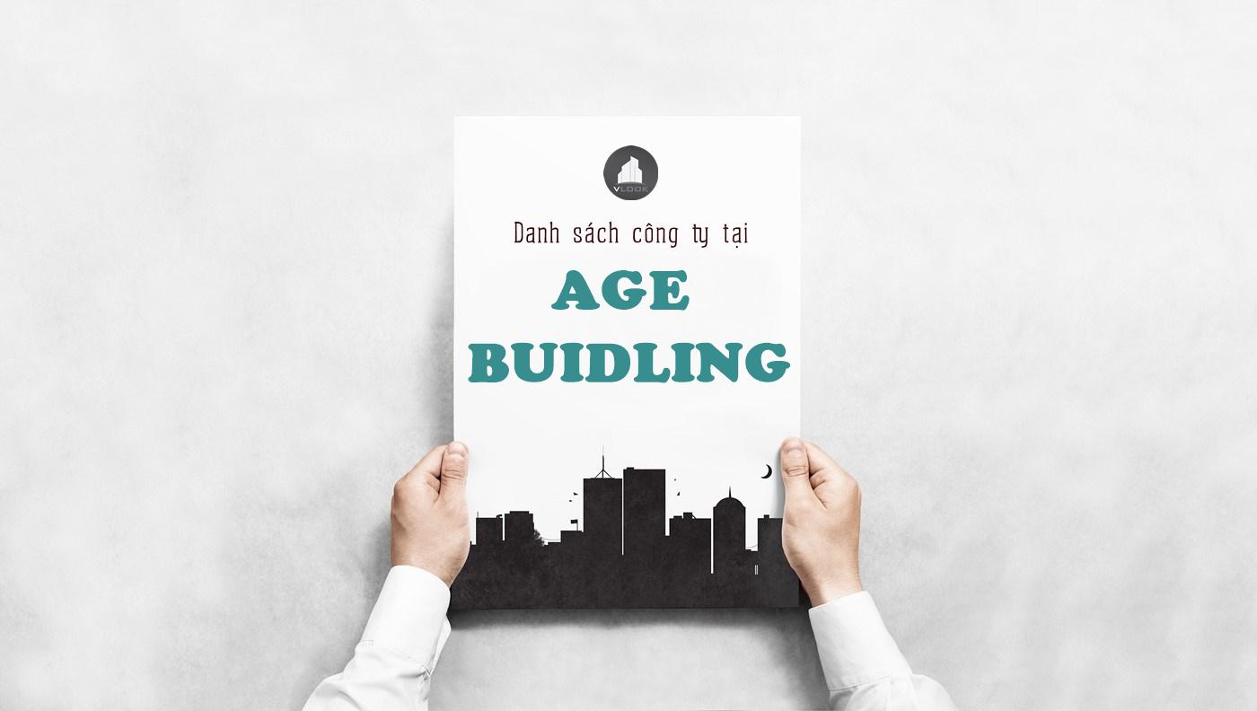 Danh sách công ty tại tòa nhà Age Building, Xô Viết Nghệ Tĩnh, Quận Bình Thạnh