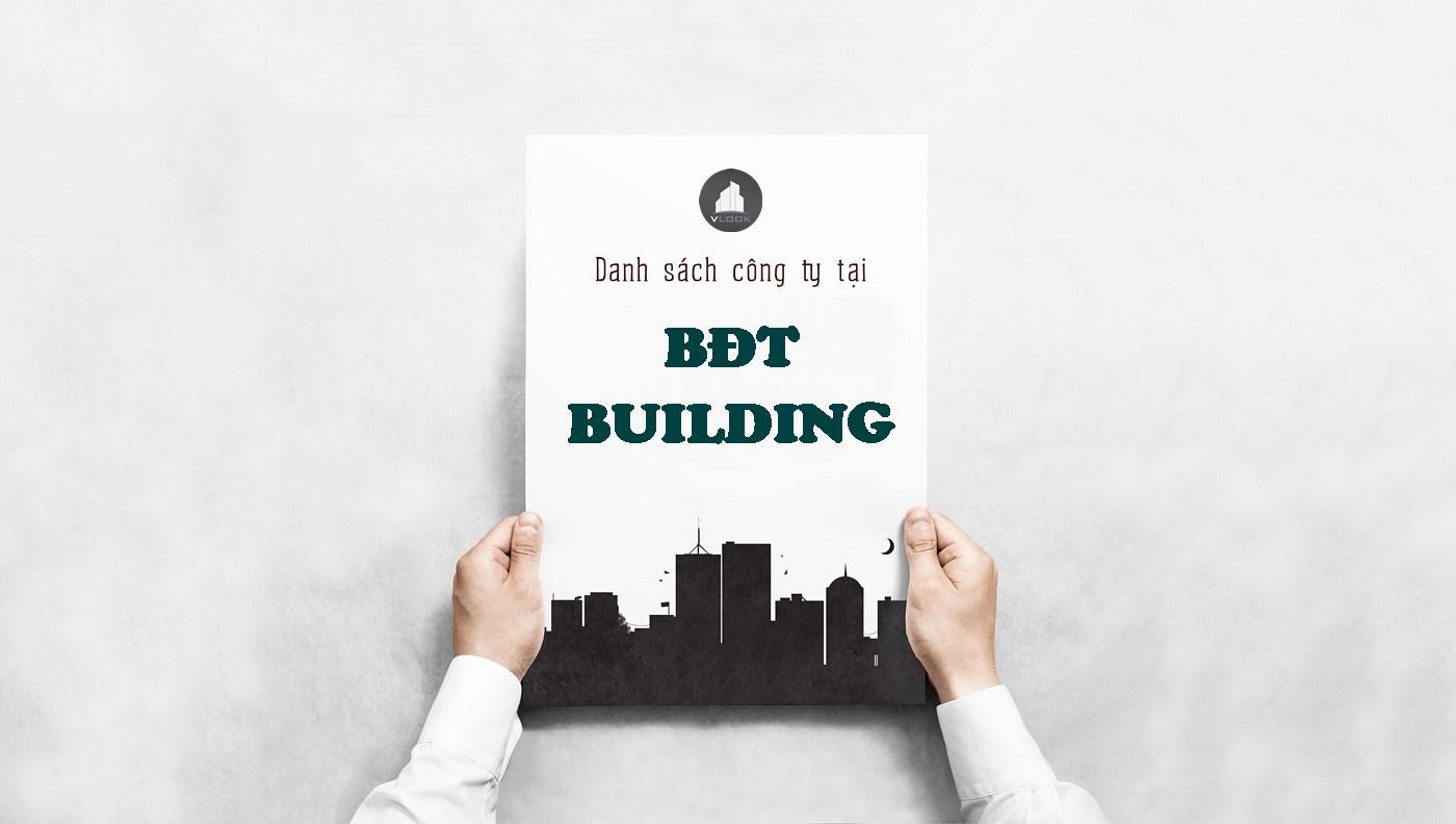 Danh sách công ty tại tòa nhà BĐT Building, Bùi Đình Túy, Quận Bình Thạnh