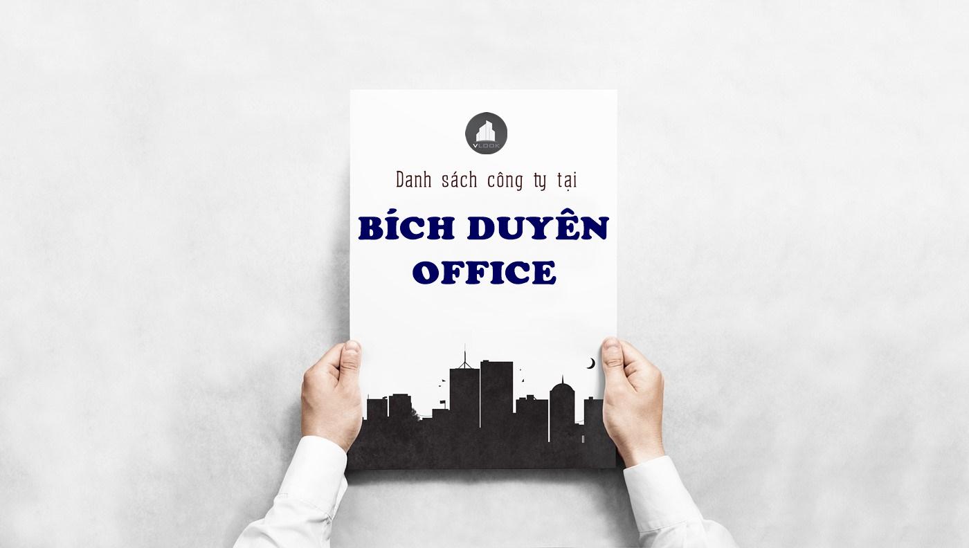 Danh sách công ty tại tòa nhà Bích Duyên Office Nguyễn Trường Tộ, Quận 4